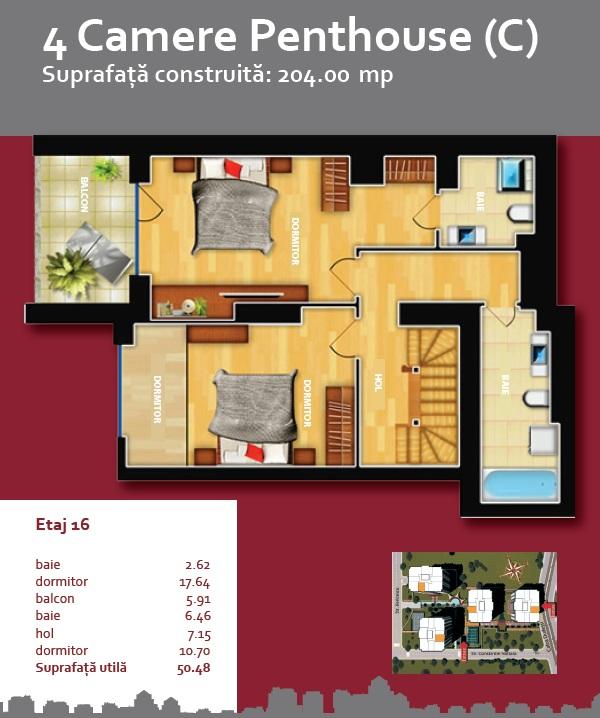 Plan Triplex 4 C