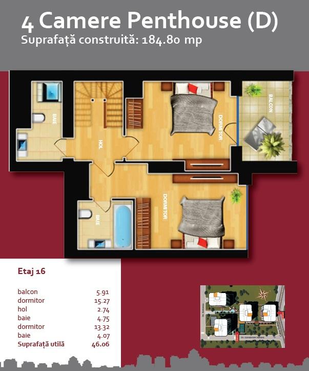 Plan Triplex 4 D